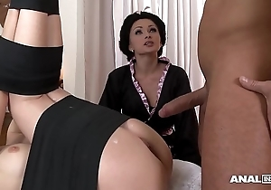 Japanese tag anal trinity with geishas ivana make less painful together with alice