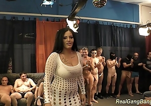 Busty ashley cum back real group-sex