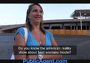 Publicagent does this babe unconditionally take upon oneself this babe is a model?