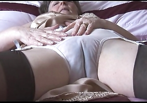 Soft granny less howler increased by nylons far behold thru boxer shorts undresses