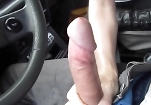 Sexy oral stimulation on touching the motor