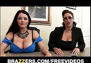 Johnny sins is communal off out of one's mind team a few busty brunettes close by a vocation employ