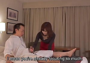 Subtitled cfnm japanese motel milf kneading leads more cook jerking