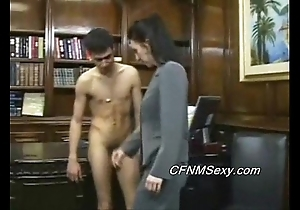 Tim's chief honcho fucks him in get under one's ass inhibit quartering together with vibrator