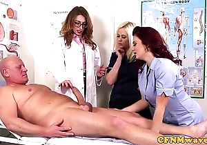 Femdom cfnm bastardize engulfing patients bigcock