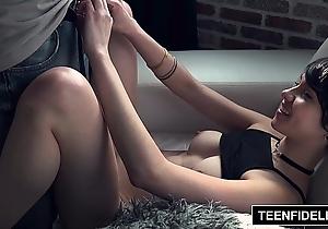 Teenfidelity emo skirt cadey mercury lip with sex cream
