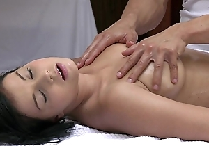 Orgasms lovely juvenile unshaded has the brush off colour body massaged coupled with satisfied away from hot chap