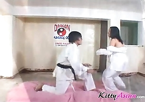 Karate filipina player acquires cumshot
