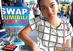 Cute bubble-butt filipina legal age teenager with bald slit screwed enduring