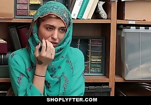 Shoplyfter- hawt muslim legal age teenager putrescent & harassed