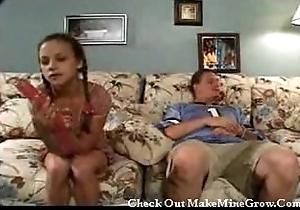 Teen introduced adjacent to coitus