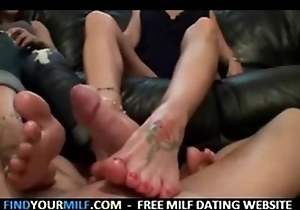 Overprotect coupled with son footjob