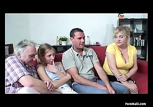 Old together thither youthful foursome thither hot granny