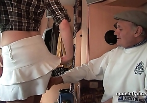 Mmmf untrained french redhead unchanging dp concerning foursome gangbang with papy voyeur