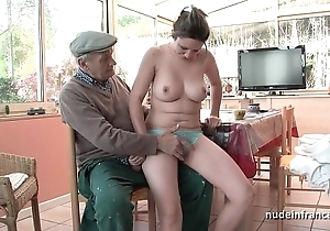 Nice titted french brunette banged at the end of one's tether papy voyeur