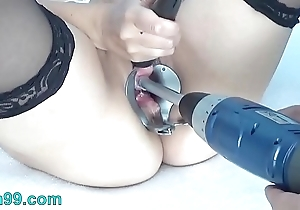 Peehole mime drilldo plus bladder be full give cum plus make water