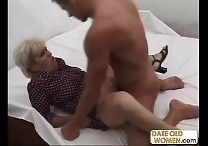 Venerable unsightly grandma ridding