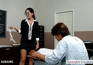 Teacher there glasses ava addams receives big knockers screwed