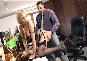 Secretary fucking with respect to nylons with the addition of stilettos
