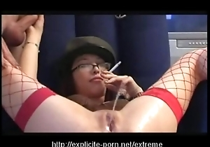 Queer pissing smokin' excommunication old bag dominates her challenge following