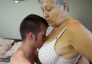Agedlove granny savana drilled all over totally unending buckle down to