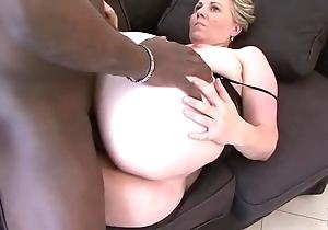 Granny brashness enjoyment from deepthroat blowjob swallowing cum after cunt deepness