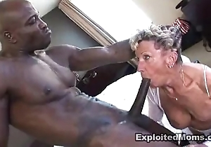 Ancient granny takes a big baneful horseshit on touching say no to exasperation anal interracial pellicle