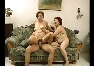 2 grandmas find worthwhile a hunk coupled with his cock.