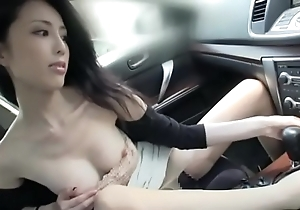 Well done japanese son mad about and lick in a auto