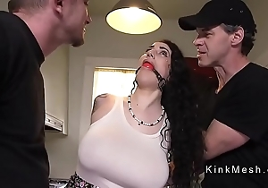 Huge gut alt servant acquires anal fucked