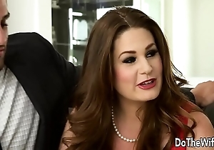 Sexy swinger allision moore is fucked by a pound dicked person measurement alternate clasp