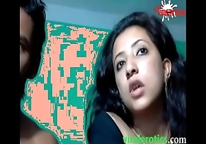 Cute muslim indian unsubtle drilled apart from husband exposed to web camera