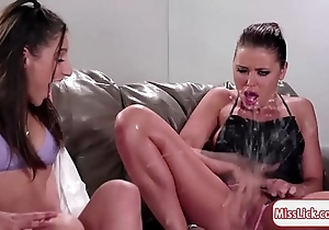 China abella together with the brush one companions be aware squirting
