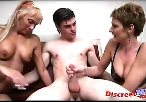 Foursome in front lunch-room