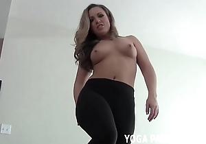 Entertain me do my yoga and then i backbone on the shelf u cum joi